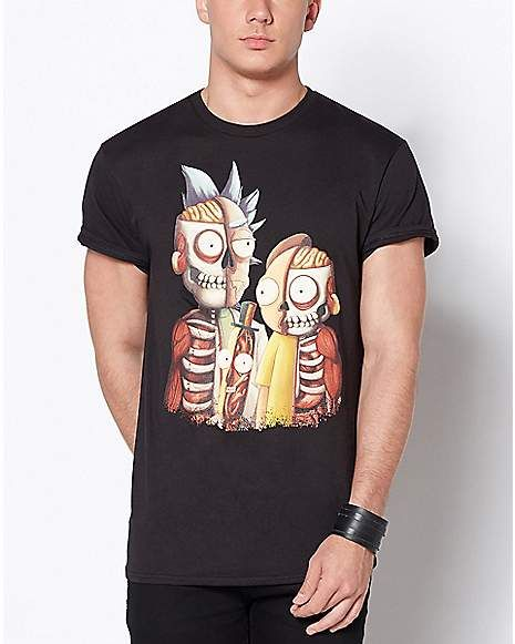 18db29dc Skeleton Rick and Morty T Shirt - Spencer's | Rick and Morty T ...