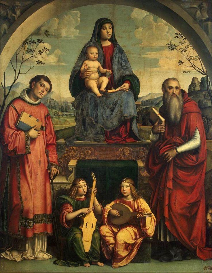 madchildFRANCIA, Francesco.jpg Мадонна со Св. Лаврентием и Св. Иеронимом, 1500