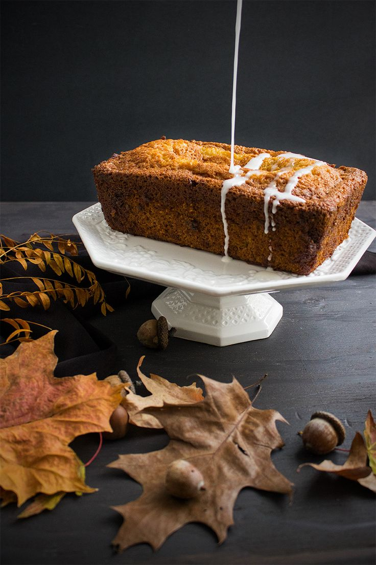 Butternut Squash Bread with Lemon Icing