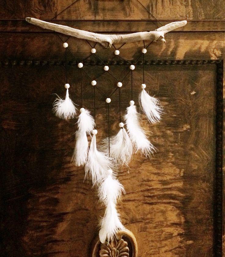 Driftwood boho bohemian diy dreamcathcher wallhanging