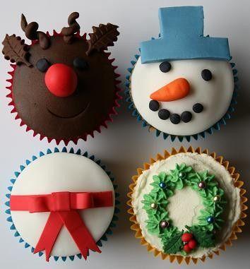 Christmas party: Holidays Cupcakes, Decor Ideas, Cupcakes Ideas, Christmas Goodies, Snowman Wreaths, Christmas Cupcakes, Christmas Ideas, Cupcakes Rosa-Choqu, Fondant Cupcakes