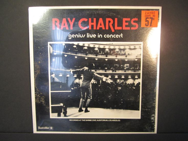 Ray Charles genius live in concertBluesway ABC BLS 6053recorded at the Shrine Civic AuditoriumLos Angeles1973 sealed re-issue blues LP
