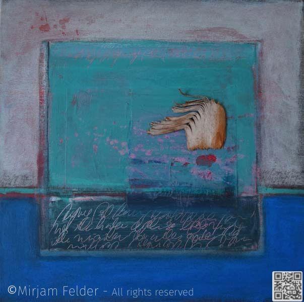 """mixed media on canvas, 18x18"""", 45x45 cm"""