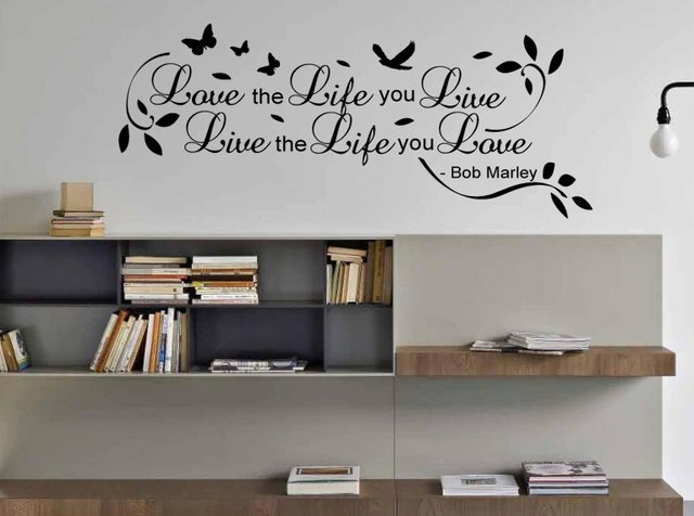 Love The Life You Live Bob Marley Wall Sticker Quote Bedroom Mural Art Alt  With Extras Part 95