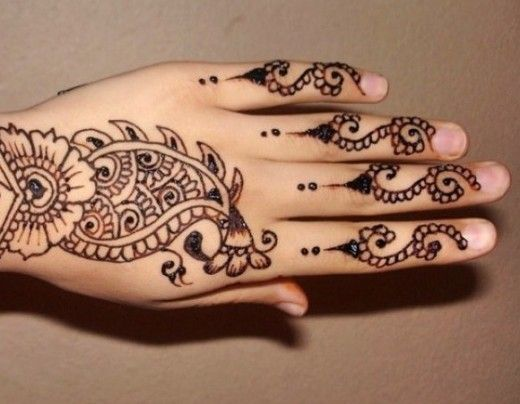 Party Mehndi Trend for Fingers