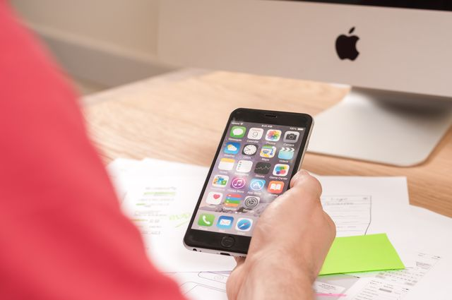 Freelancer with iPhone6 #documents #business #office #apple #freelance #workspace #Computer #Phone #Apple #Design #IPhone #iMac #ux #ui #projects #uxkit #iOs7 #iphone6 #designer #wireframes #mockups #iPhonesketchtemplate #sketches #app #