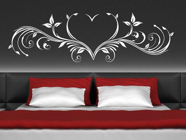 Wandtattoo Schlafzimmer Beautiful Wandtattoo Herz Ornament Romantisch