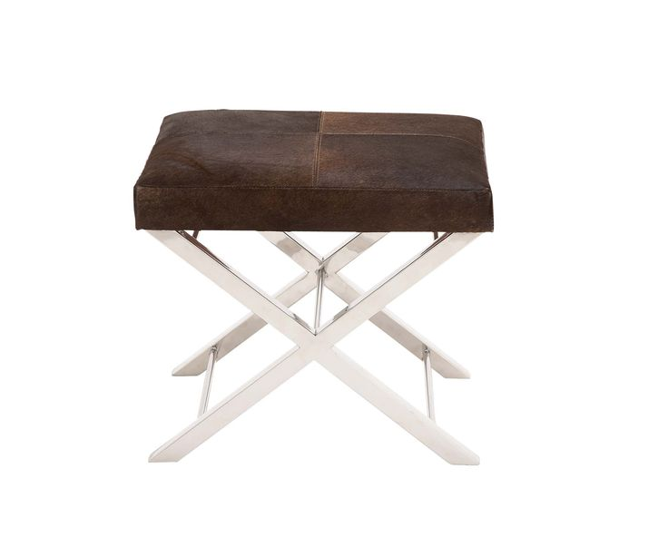 The Stylish Stainless Steel Brown Leather Stool