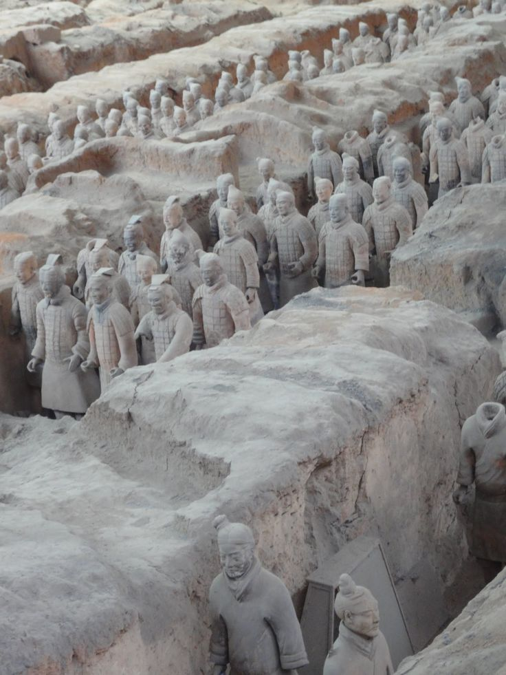 The Mausoleum of the First Qin Emperor in Xi'an - China