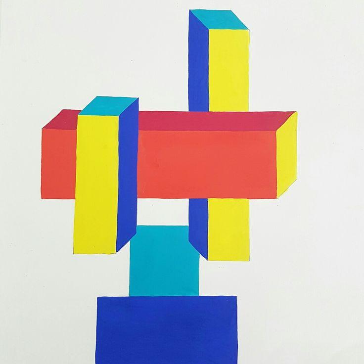 Painting Exam 3D geometric
