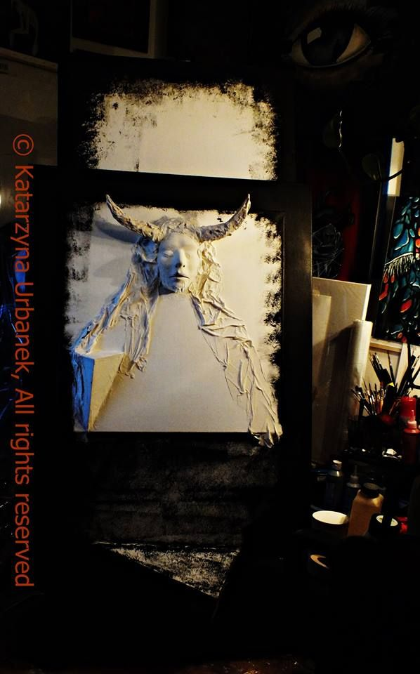 """Work in progress -""""OUT OF MYSELF - LUCIFER """" © Katarzyna Urbanek, All rights reserved"""