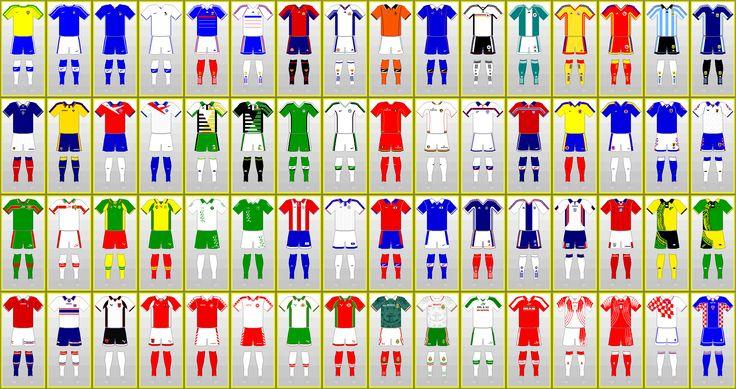 Uniformes de la Coupe du monde de football: FRANCE 1998