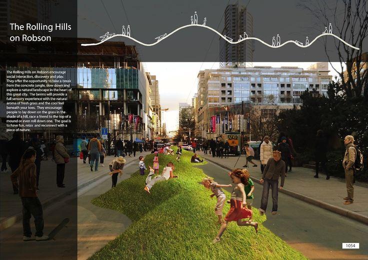 Vancouver, Urban, Streetscape, Pedestrian-friendly
