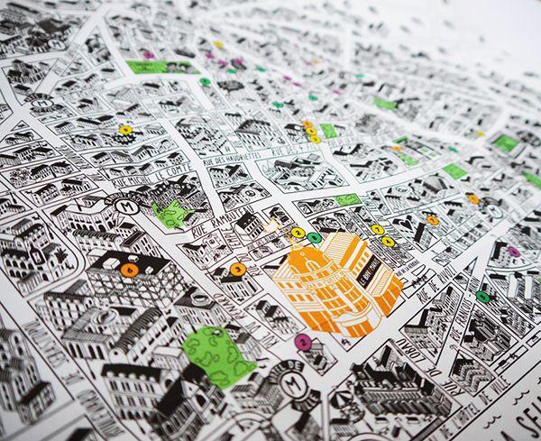 Map of Le Marais area Paris