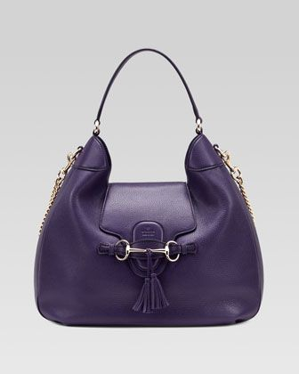 Emily Leather Hobo Bag, Purple by Gucci at Bergdorf Goodman.