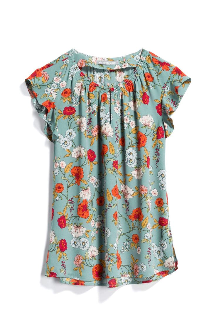 Daniel Rainn Green & Orange Blouse – Stitch Fix Style Quiz – Referral link included – When you use my link, I receive a small credit towards my next f…