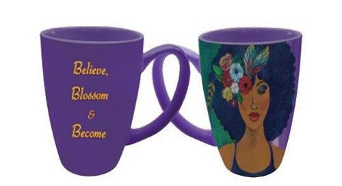 Believe, Blossom & Become Latte Mug by DDBProductions on Etsy
