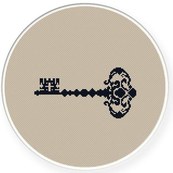 Instant download,free shipping,Cross stitch pattern, Cross-Stitch PDF,vintage key,zxxc0340 on Etsy, $5.00