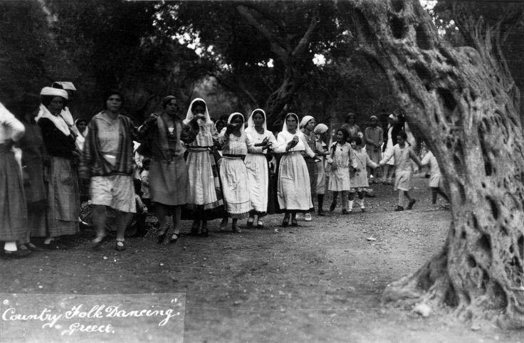 Κέρκυρα, 1929, χορός στο Γαστούρι. Αρχείο Θεόδωρου Μεταλληνού