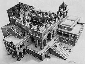 Onderwijs en zo voort ........: 1994. Escher : Boekje met stappenplan om zelf Eschers te maken
