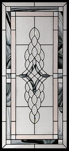Stained Glass Door Inserts - Rosetta 22x48