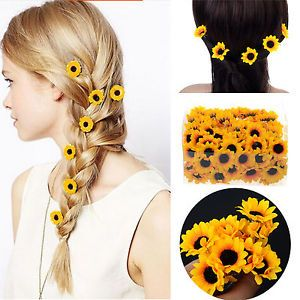 Cool 20 Boho Sunflower Daisy Hair Cuff Clip Headband Hair Pin Accessories Slide