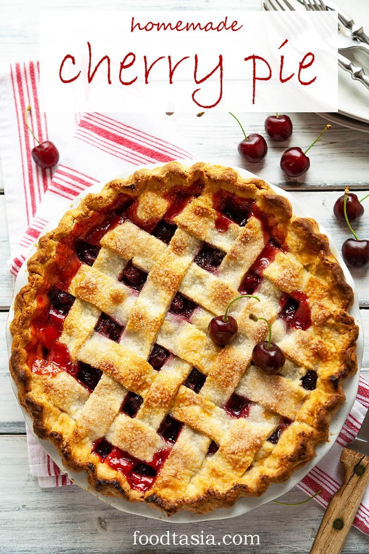 Homemade Cherry Pie Recipe Homemade Cherry Pies Dessert