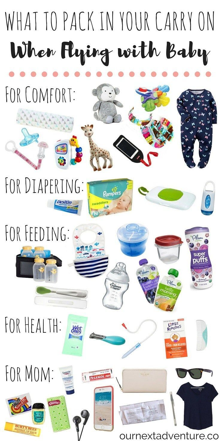 Flying with Baby: Pack these items in your carry on and guarantee a smooth travel day! | http://ournextadventure.co