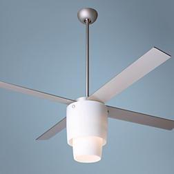 """Modern Fan Halo Light Ceiling Fan - 52"""" Nickel Opal"""