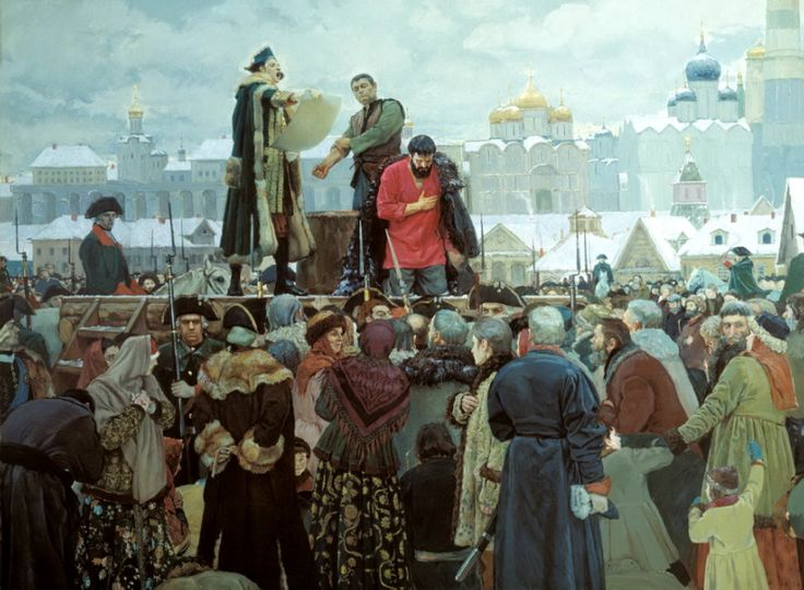 Matorin Victor - Execution of Pugachev. Forgive me, Orthodox people. 200 Russian painters • download painting • Gallerix.ru