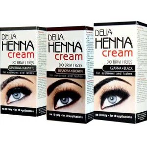 Delia Henna Cream For Eyebrows and Eyelashes? I have this, it looks really natural.