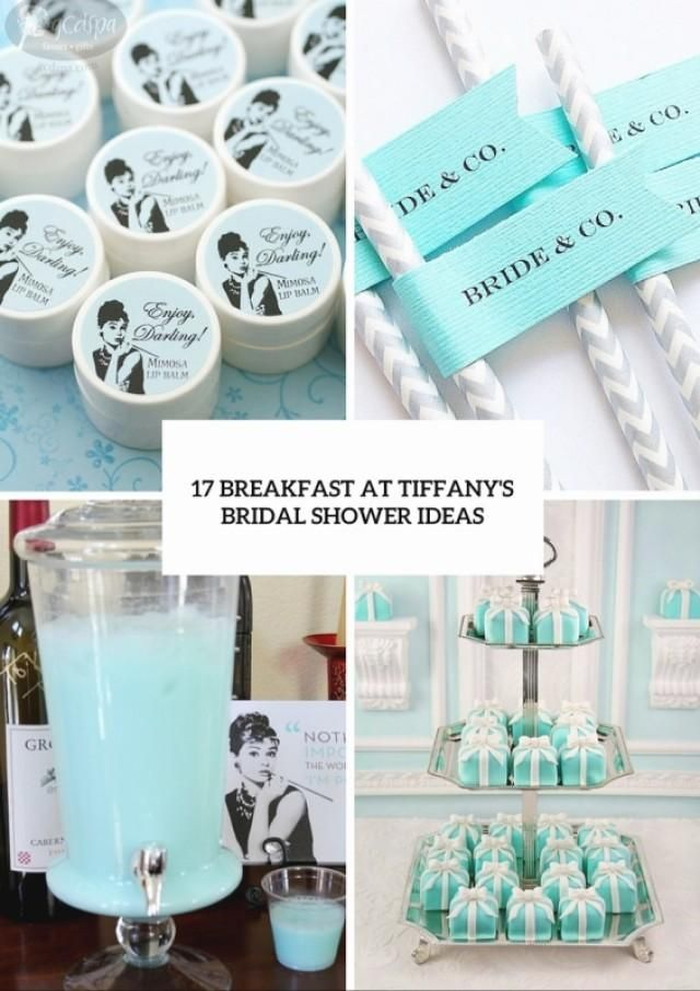 If you want your bridal shower to be something more than a simple gathering with your best gals, you should definitely think over choosing a famous theme. Can't help but love Audrey Hepburn, classic pearls and diamonds? Breakfast at Tiffany's theme would be the best choice for your girls-only soiree!