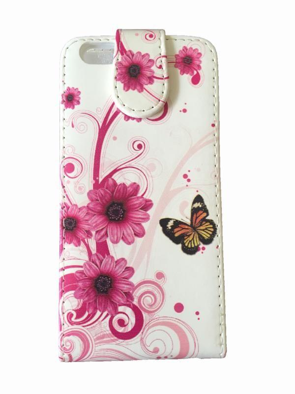 FoneBitz - iPhone 6 Butterfly flower flip case