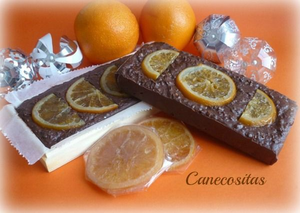 Turrón de chocolate y naranja 1 thermomix