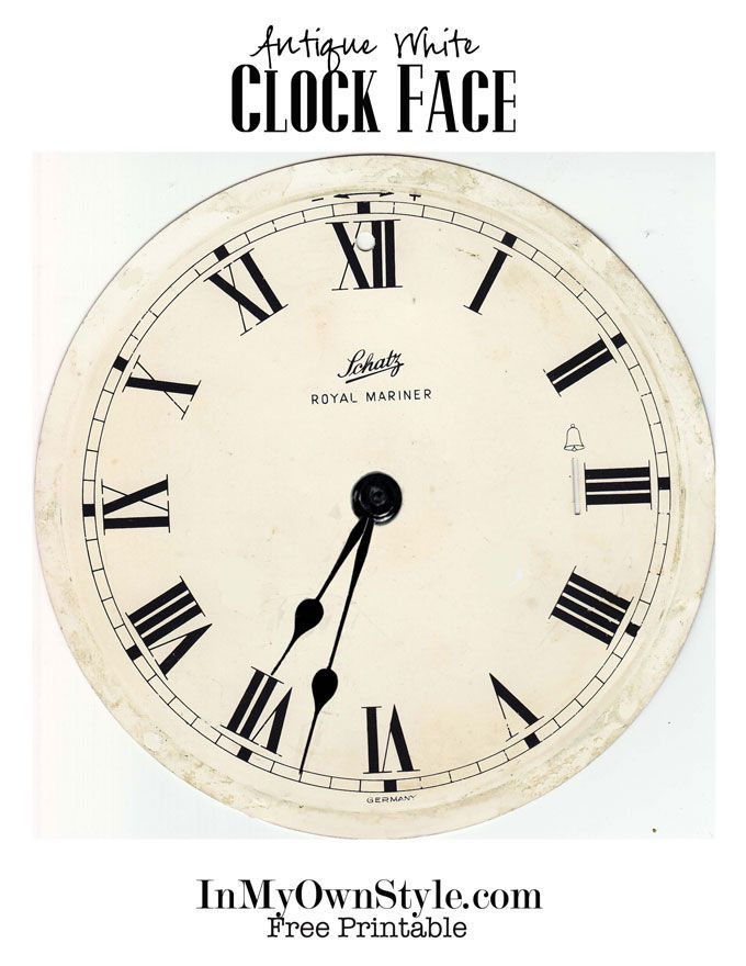 25 best ideas about Clock face printable – Clock Face Template