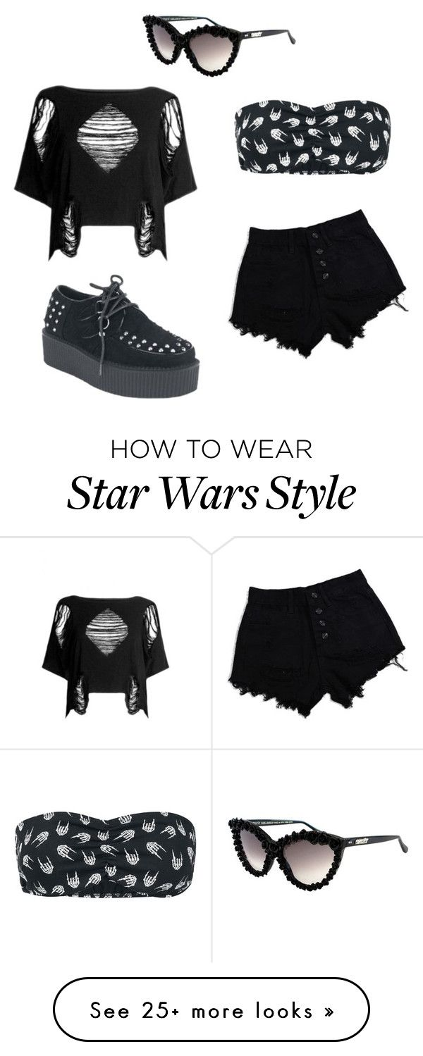"""Summer On The Way"" by alternativeoutfits on Polyvore featuring Kill Star, A-Morir by Kerin Rose, black, goth, alternative and nugoth"