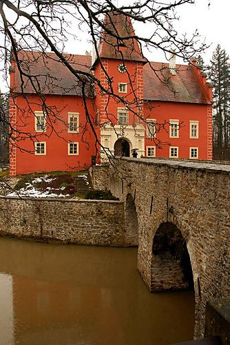 Cervena Lhota Castle in the Rain, South Bohemia, Czech Republic