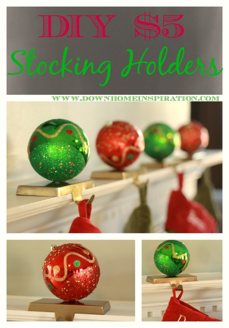 DIY $5 Stocking Holder - Down Home Inspiration