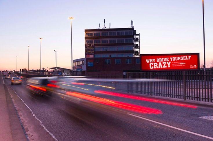 Case: Why Drive Yourself Crazy イギリスの鉄道事業者・Virgin Trainsが、渋滞に不満を抱える自動車通勤者向けに屋外広告キャンペーンを実施しました。  キャ