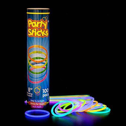 """$8.99 - 100 - Prime - Glow Sticks Bulk - 100 Count Long Lasting 8"""" Premium Glow..."""