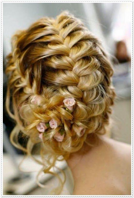 Brautfrisuren lange haare geflochten 2014