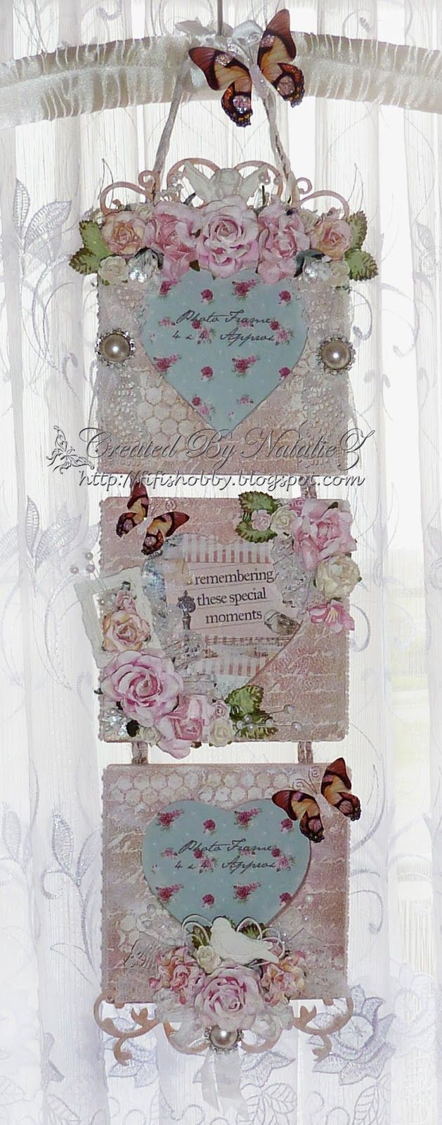 My creativity life shabby chic photo frame card for Shabby chic frames diy