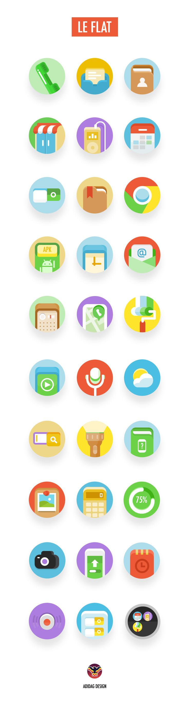 Flat Icons / Flat Design / Icons / LEFLAT for lenovo by ADIDAG