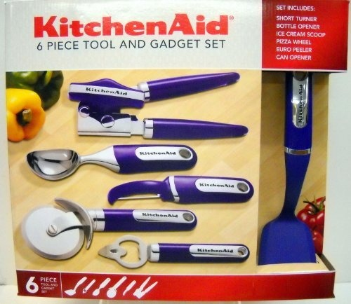 KitchenAid 6 Piece Tool U0026 Gadget Set (Purple) On Amazon $50   Perfect Gift  Set For The New College Student. Includes All The Gadgets They Will Use U2026