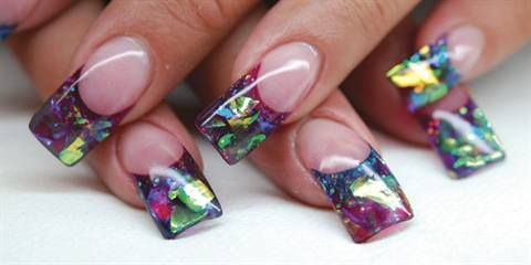 Stained Glass Nails - Technique - NAILS Magazine