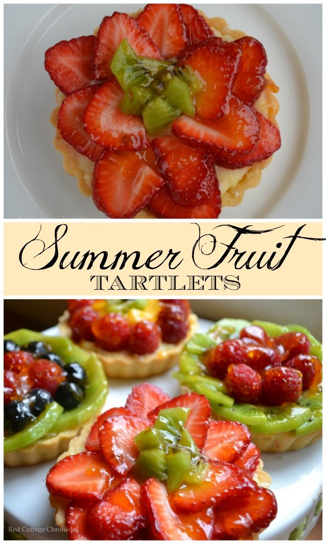 Summer Fruit Tartlets - redcottagechronicles.com