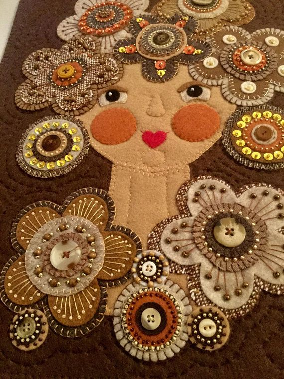 Paisleys and Pennies wool applique kit