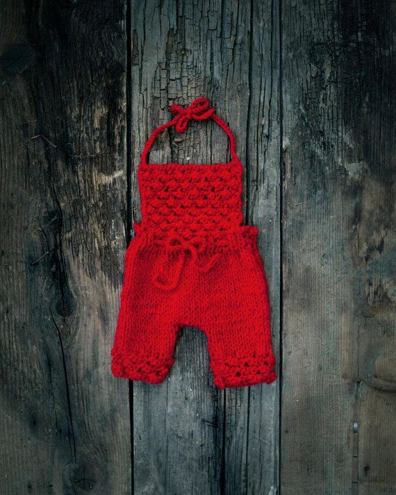 Newborn Photo prop/ Baby Romper/ Girl overalls/ by GabriCollection