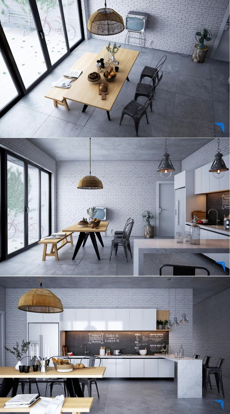 Dining Room Ideas:Simple Modern Dining Room Design From Three Different Angle 20 Dining-Rooms