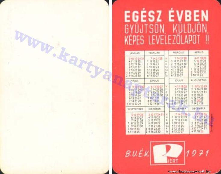 1971 - 1971_0522 - Régi magyar kártyanaptárak